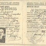 Е.Омаровтың атына берілген «Жоғарғы дәрежелі мектеп пен ғылым мекемелері қызметкерлері профсоюзының мүшелік билеті» (түпнұсқа) (құжат ұстаушы: Қостанай облыстық тарихи-өлкетану мұражайы)