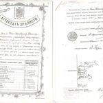 (KZ) У.Танашевтың Астрахань ерлер гимназиясынан алған кәмлеттік аттестаты (көшірме) (құжат ұстаушы: Атырау облыстық тарихи-өлкетану мұражайы)