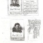 (KZ) У.Танашевтың студенттік билеті (көшірме) (құжат ұстаушы: Атырау облыстық тарихи-өлкетану мұражайы)